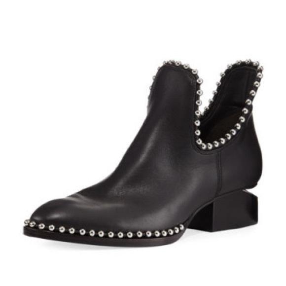 cc59a62fea789 Alexander Wang Shoes - Alexander Wang studded Kori Cut Out boot bootie 37